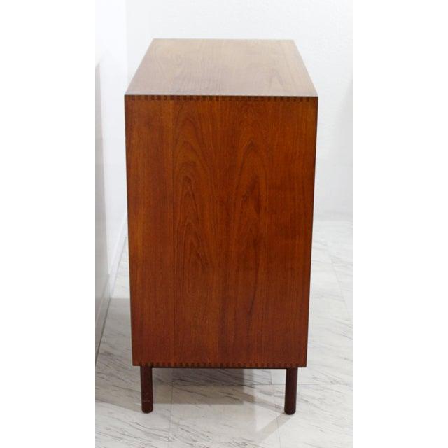 1950s 1950s Mid-Century Danish Modern Peter Hvidt Teak Vanity Dresser Cabinet For Sale - Image 5 of 13