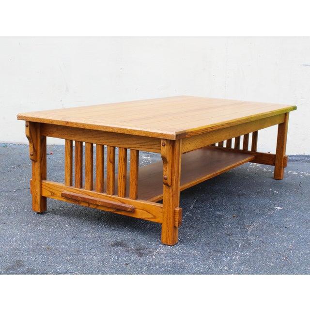 MidCentury Modern Oak Coffee Table Chairish - Mid century oak coffee table