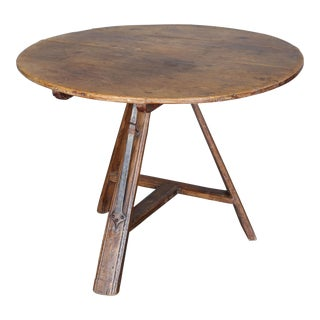 Antique 19th Century Round Dutch Tripod Table For Sale