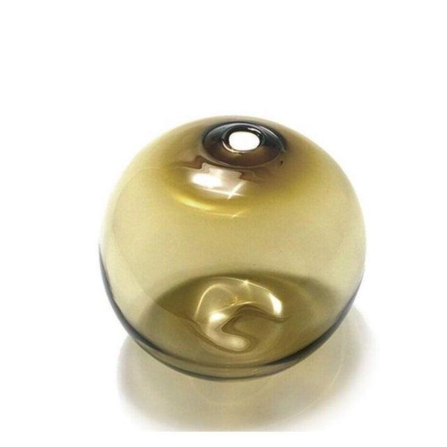 """2010s SkLO Float Glass Vessel 6"""" - Olivin For Sale - Image 5 of 5"""