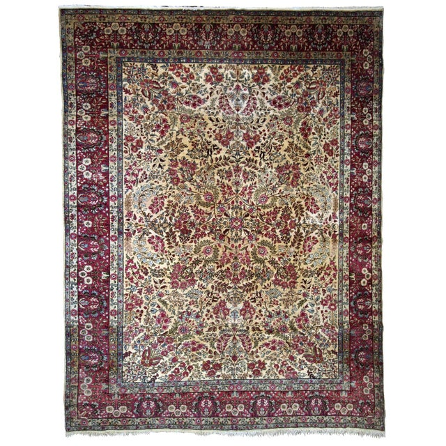 1900s, Handmade Antique Persian Kerman Lavar Rug 8.9' X 11.6' - 1b701 For Sale - Image 13 of 13