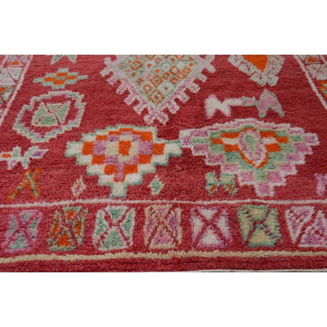 Mid 20th Century Vintage Moroccan Rug - 8'4'' X 4'10'' For Sale - Image 5 of 7