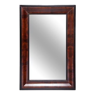 Late 19th Century Empire Flame Mahogany Mirror For Sale