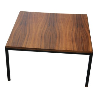Vintage Florence Knoll Rosewood Veneer Top Coffee Table For Sale