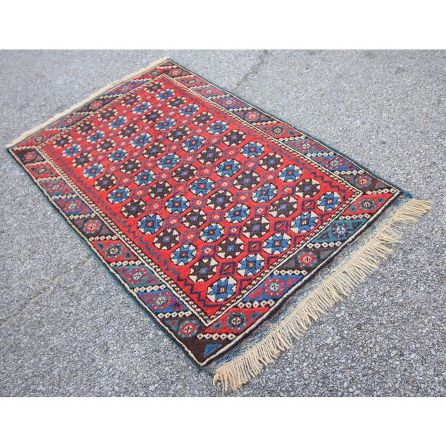 Tribal Antique Oushak Dosemealti Rug with bold colors. Turkish Tribal Rugs are coming from thousands of different villages...
