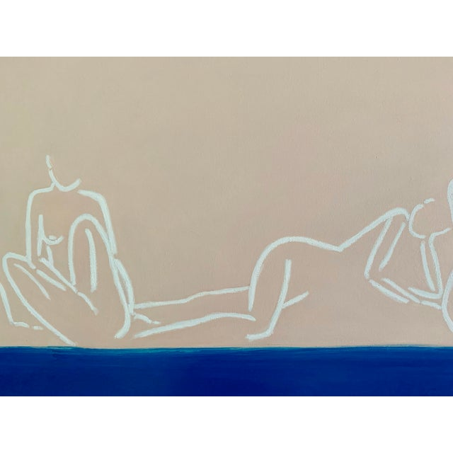 """2010s """"La Mer""""Contemporary Painting by Lindsey Weicht For Sale - Image 5 of 8"""