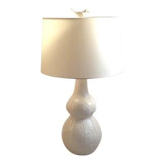 Handmade White Ceramic Lamp