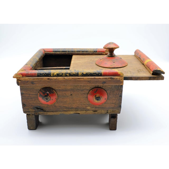 19th Century Antique Afghan Wood Spice Box For Sale In New York - Image 6 of 13