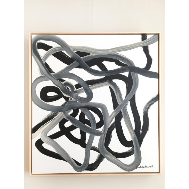 2010s Black Knot Original Painting For Sale - Image 5 of 5