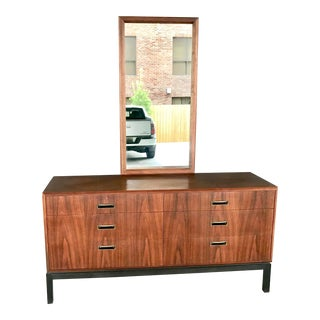 1960s Danish Modern 6 Drawer Teak Dresser With Beveled Mirror For Sale