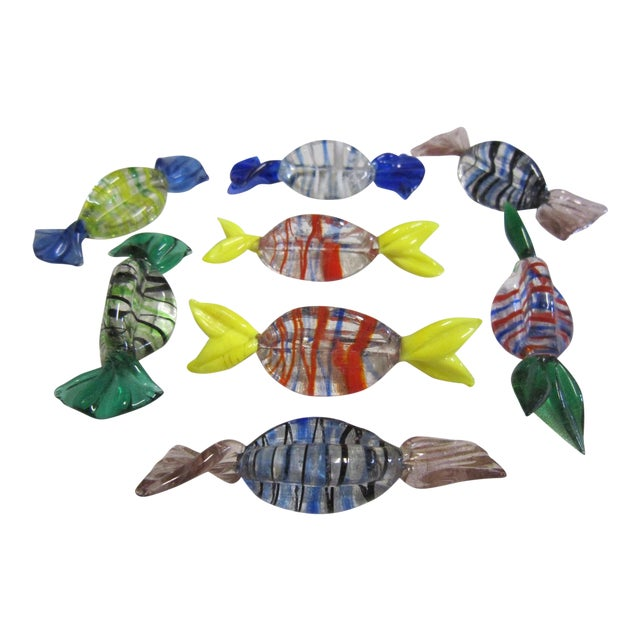 Murano Glass Candies- Set of 8 - Image 1 of 3
