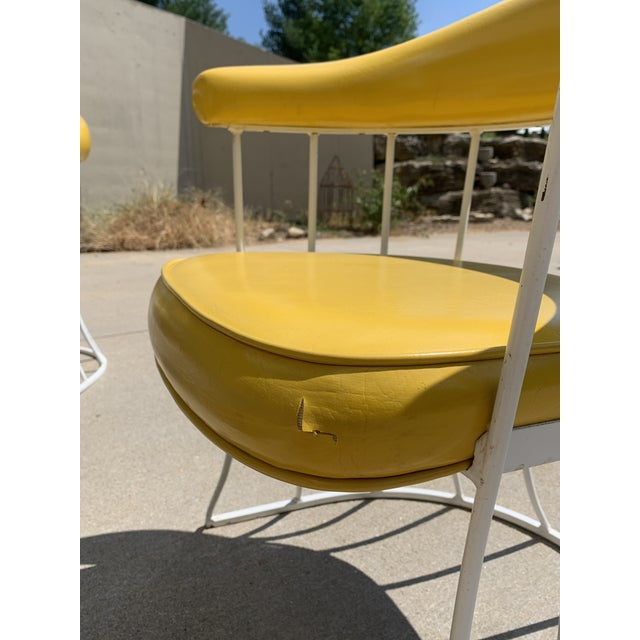 Mid-Century Modern Tulip Base Dining Table & Chairs by Blacksmith Shop For Sale - Image 9 of 13