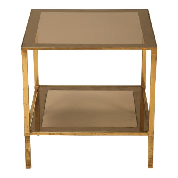Magical Vintage French Forties Design Two-Tier End/Side Table For Sale