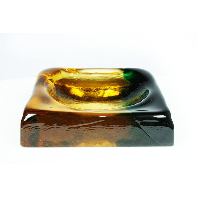 Molded Murano Glass Ashtray Dish For Sale - Image 4 of 5
