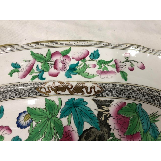 Antique English Transferware Platter For Sale - Image 4 of 5