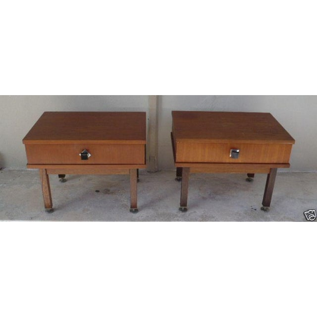 1960s Danish Modern Rosewood Nightstands - a Pair For Sale - Image 9 of 9