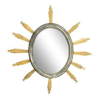 19th Century French Starburst Mirror For Sale