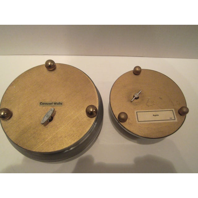 1940's Aluminum Musical Powder Boxes - Image 7 of 8