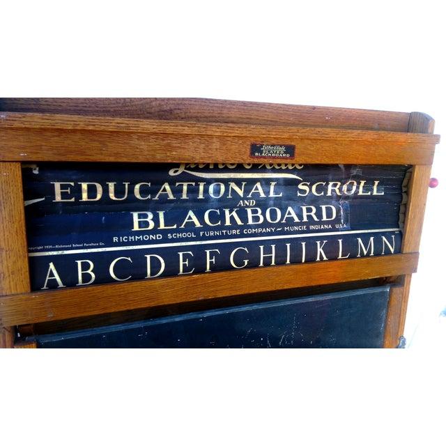 1930s Lithoplate Chalkboard & Art Desk - Image 5 of 10