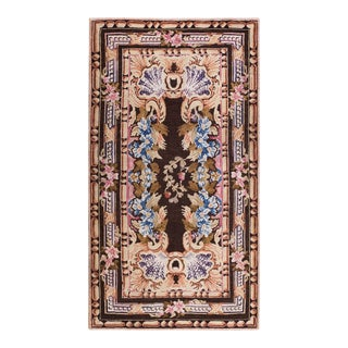"""Antique Axminster Rug 4'0""""x 7'0"""" For Sale"""