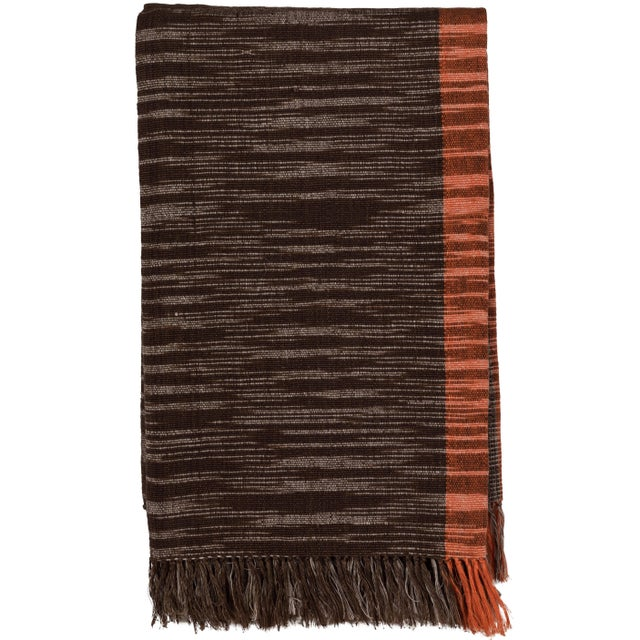 2010s Indian Handwoven Throw For Sale - Image 5 of 5