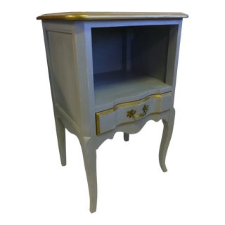 1950s French Provincial Gray Nightstand For Sale