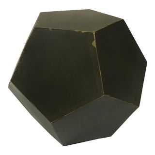 21st Century Faceted Cube Paper Weight For Sale