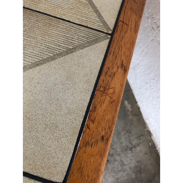 Vintage Mid-Century Danish Modern Tile Top Coffee Table by Gangso Mobler For Sale In Miami - Image 6 of 10