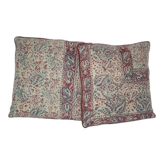 1970s Vintage Indian Pillows - A Pair For Sale