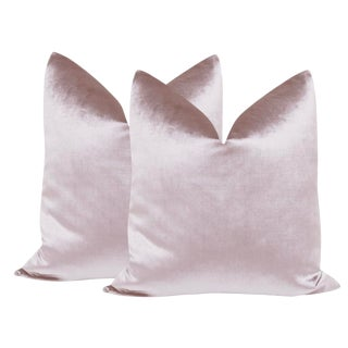 "22"" Smokey Lavender Velvet Pillows - a Pair For Sale"