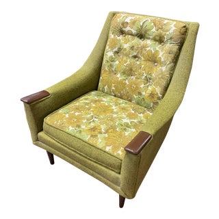 Vintage Mid Century Modern Kroehler Green Lounge Chair For Sale