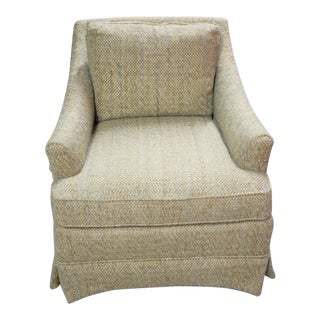 Vintage 70s Era Boucle Lounge Chair For Sale