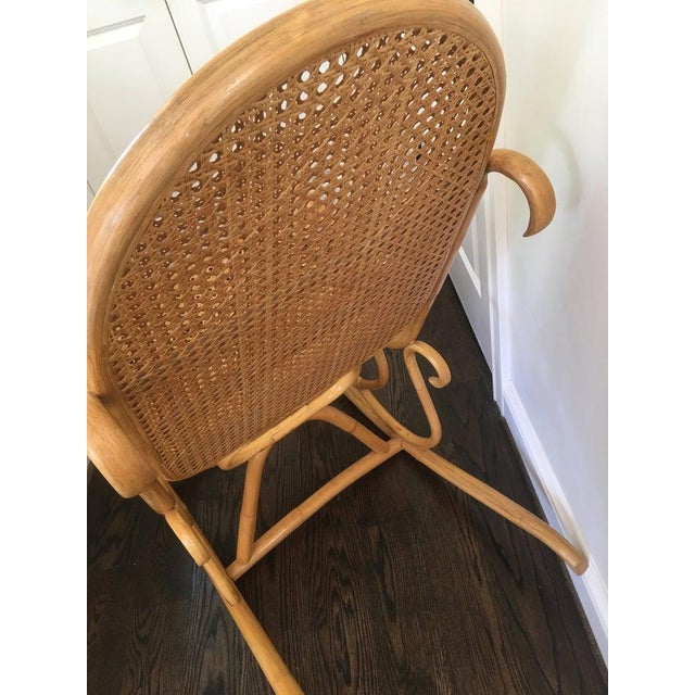 Mid-Century Boho Chic Bentwood Bamboo Rocking Chair For Sale - Image 4 of 10