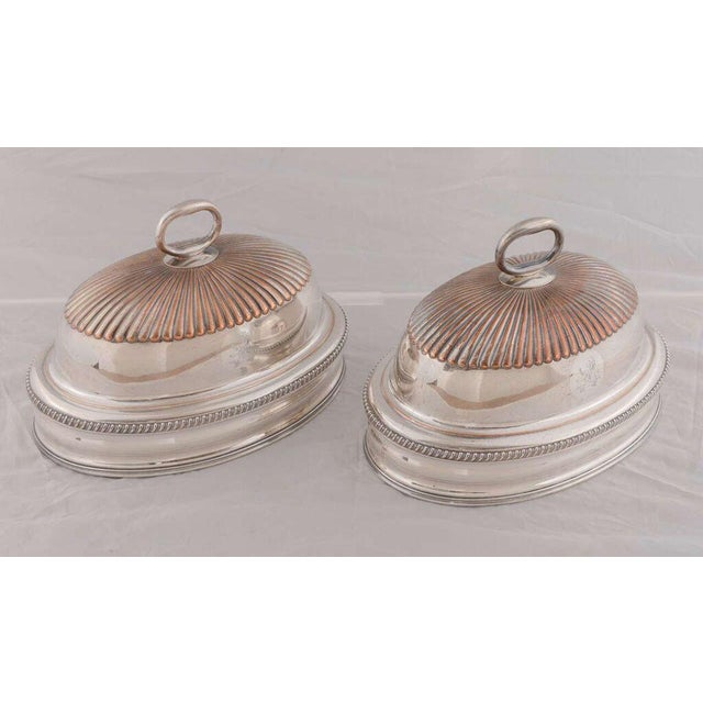 Pair of English Silver Domes For Sale In Houston - Image 6 of 8