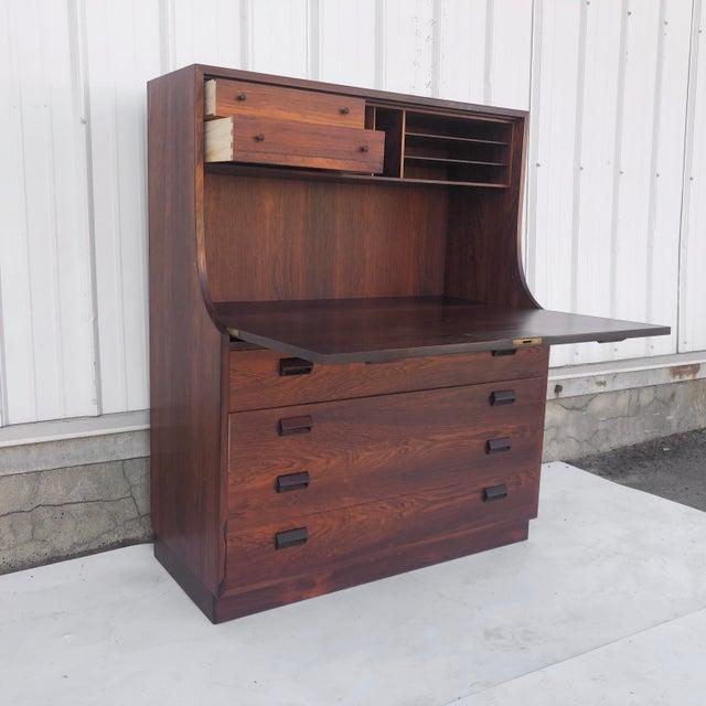 Danish Modern Borge Mogensen Rosewood Secretary Desk For Sale - Image 3 of 12