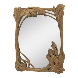 Vintage Hand Carved Mirror For Sale