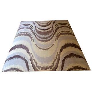 Handwoven Custom Silk & Wool Tibetan Rug - 10′2″ × 13′6″ For Sale
