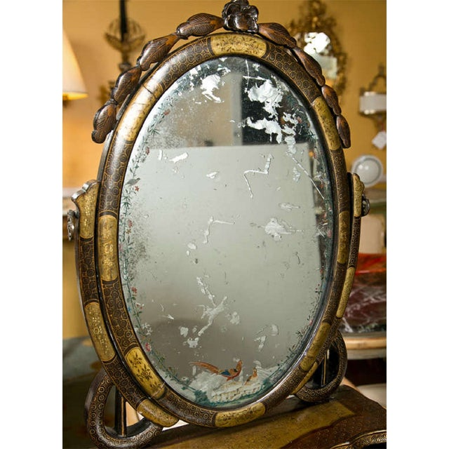 19th C. Oriental Vanity Table Mirror - Image 7 of 10