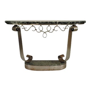 French Art Deco Steel Console Table For Sale