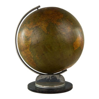 Antique Art Deco Hammond's World Globe