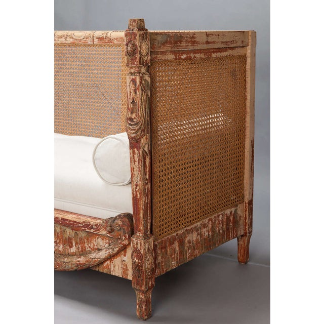 19th-Century Swedish Cane-Back Settee - Image 4 of 9