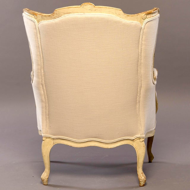 Early 20th Century Newly Upholstered French Bergere For Sale - Image 4 of 8