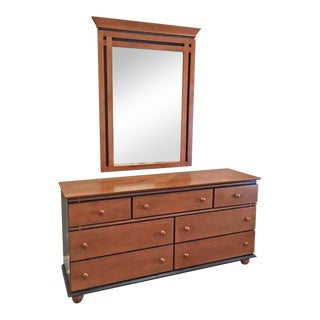 Canadian Maple Dresser & Mirror For Sale