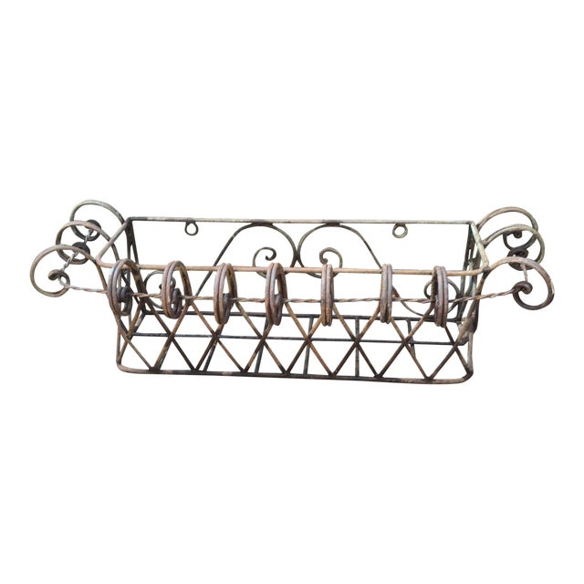 Wrought Iron Wall Planter For Sale