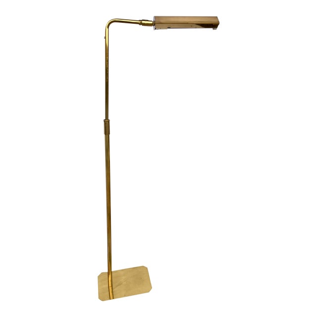 1960s Mid Century Modern Koch+Lowy Brass Articulating Floor Lamp For Sale