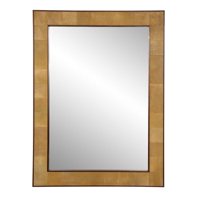 Rectangular Shagreen Mirror For Sale