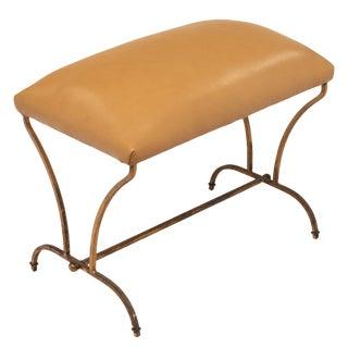 Art Deco Period Gold Leaf Iron Bench