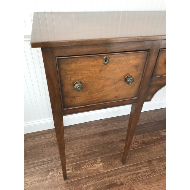 American 1950s Kittinger Colonial Williamsburg Mahogany Hepplewhite Sideboard For Sale - Image 3 of 13