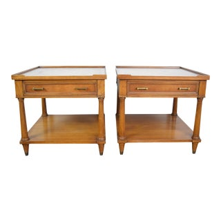 19th Century Neoclassical Fine Art Furniture Grand Rapids Side Tables – a Pair For Sale