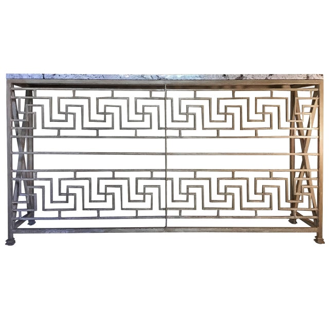 Neoclassical Iron Console For Sale